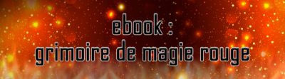 Ebook : grimoire de magie rouge