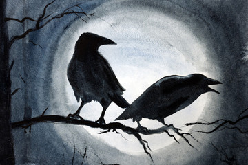 Corbeau sorcellerie noire